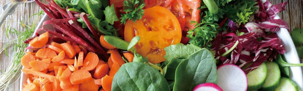 緑黄色野菜サラダの画像